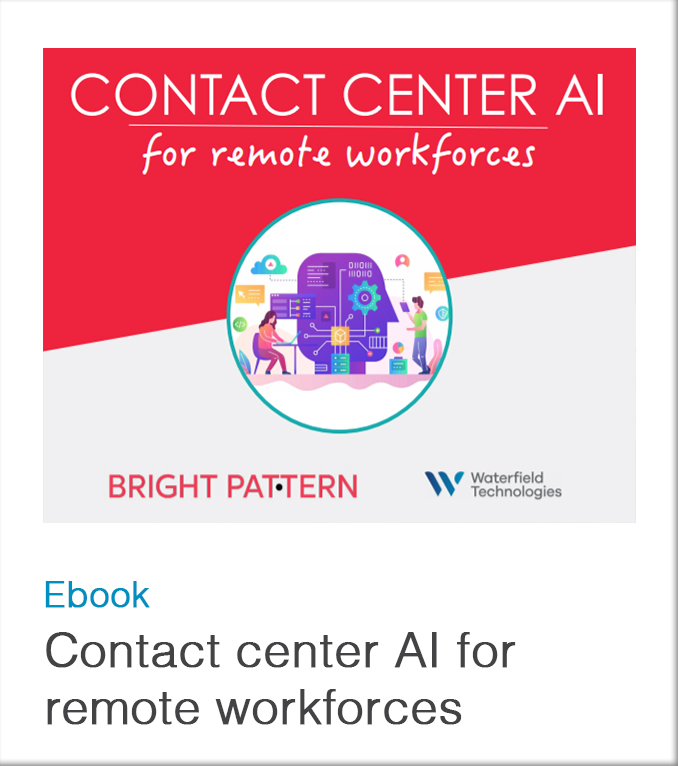 Contact center AI for remote workforces ebook