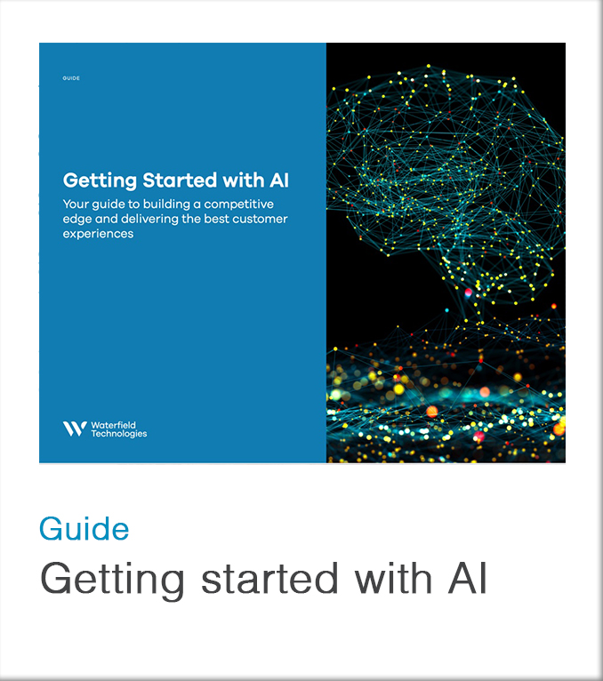 Guide to getting started with AI in the contact center